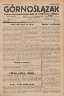 Górnoślązak : pismo codzienne, poświęcone sprawom ludu polskiego na Śląsku.R.27, nr 180 (7 sierpnia 1928) + dod.