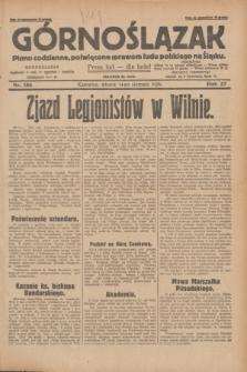 Górnoślązak : pismo codzienne, poświęcone sprawom ludu polskiego na Śląsku.R.27, nr 186 (14 sierpnia 1928) + dod.