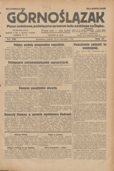 Górnoślązak : pismo codzienne, poświęcone sprawom ludu polskiego na Śląsku.R.27, nr 201 (31 sierpnia 1928) + dod.
