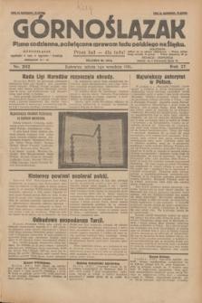 Górnoślązak : pismo codzienne, poświęcone sprawom ludu polskiego na Śląsku.R.27, nr 202 (1 września 1928) + dod.