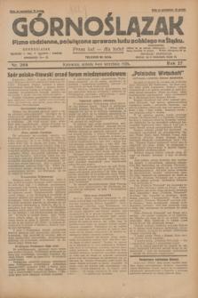 Górnoślązak : pismo codzienne, poświęcone sprawom ludu polskiego na Śląsku.R.27, nr 208 (8 września 1928) + dod.