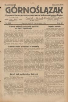 Górnoślązak : pismo codzienne, poświęcone sprawom ludu polskiego na Śląsku.R.27, nr 209 (9 września 1928) + dod.