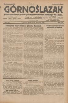 Górnoślązak : pismo codzienne, poświęcone sprawom ludu polskiego na Śląsku.R.27, nr 211 (12 września 1928) + dod.