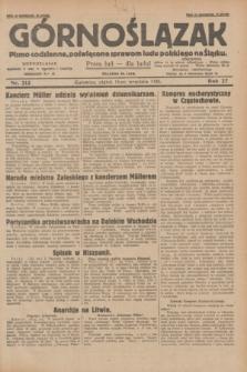 Górnoślązak : pismo codzienne, poświęcone sprawom ludu polskiego na Śląsku.R.27, nr 213 (14 września 1928) + dod.