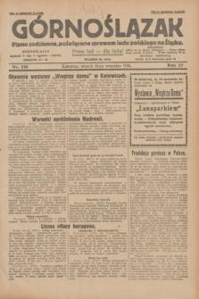 Górnoślązak : pismo codzienne, poświęcone sprawom ludu polskiego na Śląsku.R.27, nr 216 (18 września 1928) + dod.