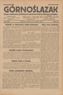 Górnoślązak : pismo codzienne, poświęcone sprawom ludu polskiego na Śląsku.R.27, nr 220 (22 września 1928) + dod.