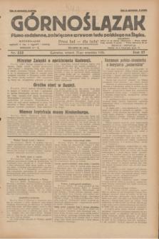 Górnoślązak : pismo codzienne, poświęcone sprawom ludu polskiego na Śląsku.R.27, nr 222 (25 września 1928) + dod.