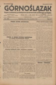 Górnoślązak : pismo codzienne, poświęcone sprawom ludu polskiego na Śląsku.R.27, nr 223 (26 września 1928) + dod.