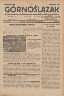 Górnoślązak : pismo codzienne, poświęcone sprawom ludu polskiego na Śląsku.R.27, nr 224 (27 września 1928) + dod.