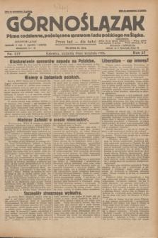 Górnoślązak : pismo codzienne, poświęcone sprawom ludu polskiego na Śląsku.R.27, nr 227 (30 września 1928) + dod.