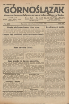 Górnoślązak : pismo codzienne, poświęcone sprawom ludu polskiego na Śląsku.R.27, nr 232 (6 października 1928) + dod.