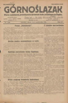 Górnoślązak : pismo codzienne, poświęcone sprawom ludu polskiego na Śląsku.R.27, nr 238 (13 października 1928) + dod.