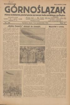 Górnoślązak : pismo codzienne, poświęcone sprawom ludu polskiego na Śląsku.R.27, nr 241 (17 października 1928) + dod.