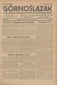 Górnoślązak : pismo codzienne, poświęcone sprawom ludu polskiego na Śląsku.R.27, nr 244 (20 października 1928) + dod.
