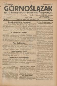 Górnoślązak : pismo codzienne, poświęcone sprawom ludu polskiego na Śląsku.R.27, nr 246 (23 października 1928) + dod.