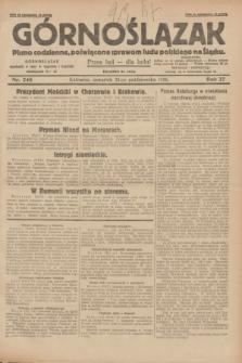 Górnoślązak : pismo codzienne, poświęcone sprawom ludu polskiego na Śląsku.R.27, nr 248 (25 października 1928) + dod.