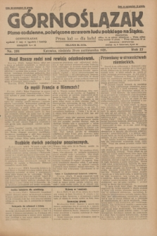 Górnoślązak : pismo codzienne, poświęcone sprawom ludu polskiego na Śląsku.R.27, nr 251 (28 października 1928) + dod.