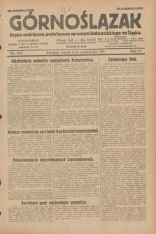 Górnoślązak : pismo codzienne, poświęcone sprawom ludu polskiego na Śląsku.R.27, nr 252 (30 października 1928) + dod.