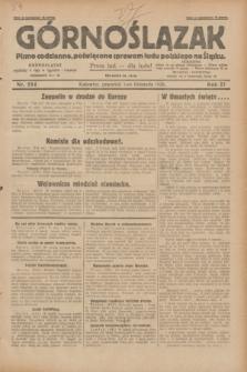 Górnoślązak : pismo codzienne, poświęcone sprawom ludu polskiego na Śląsku.R.27, nr 254 (1 listopada 1928) + dod.