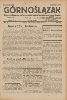 Górnoślązak : pismo codzienne, poświęcone sprawom ludu polskiego na Śląsku.R.27, nr 255 (3 listopada 1928) + dod.