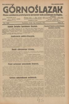 Górnoślązak : pismo codzienne, poświęcone sprawom ludu polskiego na Śląsku.R.27, nr 258 (7 listopada 1928) + dod.