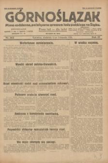 Górnoślązak : pismo codzienne, poświęcone sprawom ludu polskiego na Śląsku.R.27, nr 262 (11 listopada 1928) + dod.