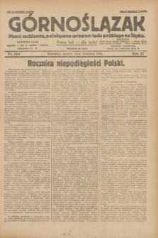 Górnoślązak : pismo codzienne, poświęcone sprawom ludu polskiego na Śląsku.R.27, nr 263 (13 listopada 1928) + dod.