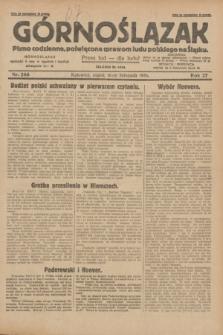Górnoślązak : pismo codzienne, poświęcone sprawom ludu polskiego na Śląsku.R.27, nr 266 (16 listopada 1928) + dod.