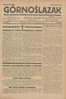 Górnoślązak : pismo codzienne, poświęcone sprawom ludu polskiego na Śląsku.R.27, nr 269 (20 listopada 1928) + dod.