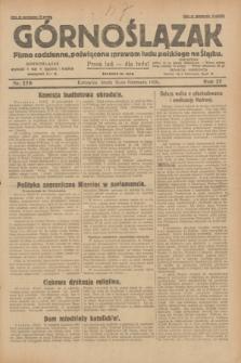 Górnoślązak : pismo codzienne, poświęcone sprawom ludu polskiego na Śląsku.R.27, nr 270 (21 listopada 1928) + dod.