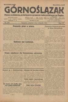 Górnoślązak : pismo codzienne, poświęcone sprawom ludu polskiego na Śląsku.R.27, nr 271 (22 listopada 1928) + dod.