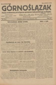 Górnoślązak : pismo codzienne, poświęcone sprawom ludu polskiego na Śląsku.R.27, nr 273 (24 listopada 1928) + dod.
