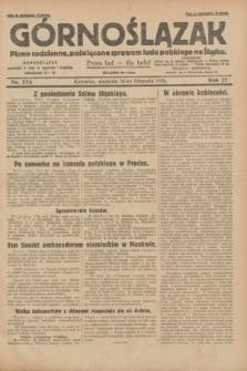 Górnoślązak : pismo codzienne, poświęcone sprawom ludu polskiego na Śląsku.R.27, nr 274 ( 25 listopada 1928) + dod.