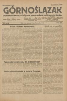 Górnoślązak : pismo codzienne, poświęcone sprawom ludu polskiego na Śląsku.R.27, nr 278 (30 listopada 1928) + dod.