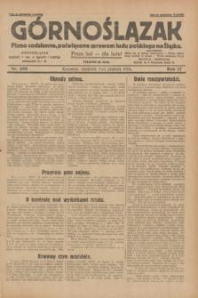 Górnoślązak : pismo codzienne, poświęcone sprawom ludu polskiego na Śląsku.R.27, nr 280 (2 grudnia 1928) + dod.