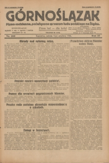 Górnoślązak : pismo codzienne, poświęcone sprawom ludu polskiego na Śląsku.R.27, nr 285 (8 grudnia 1928) + dod.