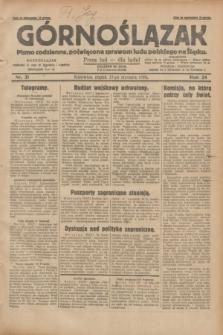 Górnoślązak : pismo codzienne, poświęcone sprawom ludu polskiego na Śląsku.R.28, nr 21 (25 stycznia 1929) + dod.
