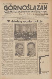 Górnoślązak : pismo codzienne, poświęcone sprawom ludu polskiego na Śląsku.R.28, nr 148 (29 czerwca 1929) + dod.