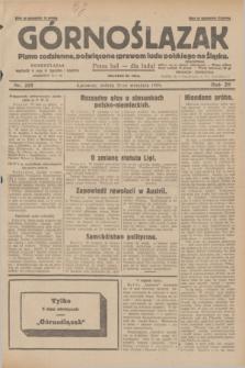 Górnoślązak : pismo codzienne, poświęcone sprawom ludu polskiego na Śląsku.R.28, nr 218 (21 września 1929) + dod.