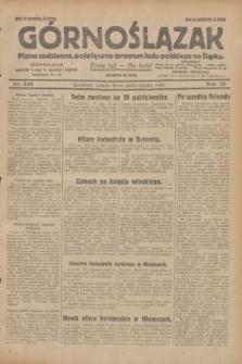 Górnoślązak : pismo codzienne, poświęcone sprawom ludu polskiego na Śląsku.R.28, nr 248 (26 października 1929) + dod.