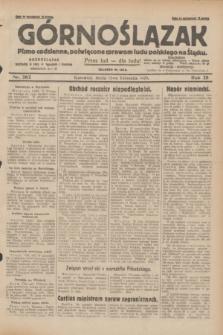 Górnoślązak : pismo codzienne, poświęcone sprawom ludu polskiego na Śląsku.R.28, nr 262 (13 listopada 1929) + dod.