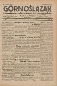 Górnoślązak : pismo codzienne, poświęcone sprawom ludu polskiego na Śląsku.R.28, nr 272 (24 listopada 1929) + dod.