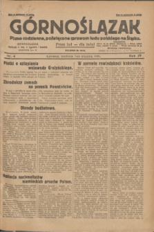 Górnoślązak : pismo codzienne, poświęcone sprawom ludu polskiego na Śląsku.R.29, nr 4 (5 stycznia 1930) + dod.