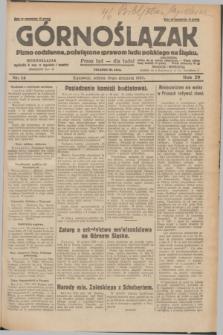 Górnoślązak : pismo codzienne, poświęcone sprawom ludu polskiego na Śląsku.R.29, nr 14 (18 stycznia 1930) + dod.