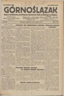 Górnoślązak : pismo codzienne, poświęcone sprawom ludu polskiego na Śląsku.R.29, nr 15 (19 stycznia 1930) + dod.
