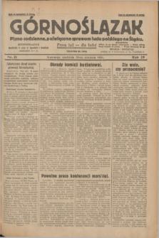 Górnoślązak : pismo codzienne, poświęcone sprawom ludu polskiego na Śląsku.R.29, nr 21 (26 stycznia 1930) + dod.
