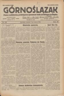 Górnoślązak : pismo codzienne, poświęcone sprawom ludu polskiego na Śląsku.R.29, nr 40 (18 lutego 1930) + dod.