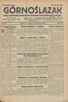 Górnoślązak : pismo codzienne, poświęcone sprawom ludu polskiego na Śląsku.R.29, nr 81 (6 kwietnia 1930) + dod.