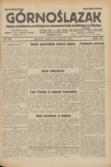 Górnoślązak : pismo codzienne, poświęcone sprawom ludu polskiego na Śląsku.R.29, nr 82 (8 kwietnia 1930) + dod.