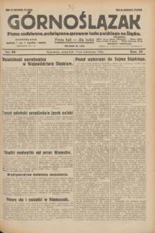 Górnoślązak : pismo codzienne, poświęcone sprawom ludu polskiego na Śląsku.R.29, nr 90 (17 kwietnia 1930) + dod.